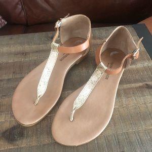Gold Tan Sandal